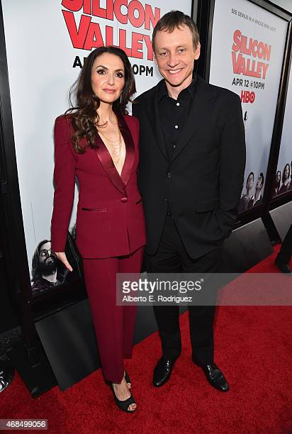 Director/writer Alec Berg and Michele Maika attend the premiere of HBO's Silicon Valley 2nd Season at the El Capitan Theatre on April 2 2015 in...