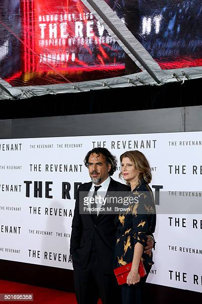 Director/writer Alejandro Gonzalez Inarritu and Maria Eladia Hagerman attend the premiere of 20th Century Fox and Regency Enterprises' The Revenant...