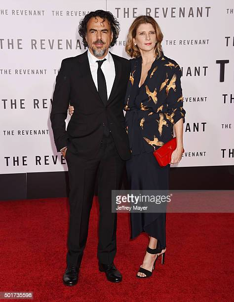 Director/writer Alejandro Gonzalez Inarritu and Maria Eladia Hagerman arrive at the Premiere of 20th Century Fox And Regency Enterprises' 'The...
