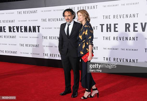 Director/writer Alejandro Gonzalez Inarritu and Maria Eladia Hagerman attends the Premiere of 20th Century Fox And Regency Enterprises' 'The...