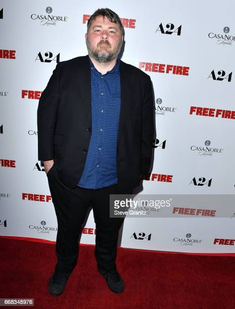 Director/writer Ben Wheatley arrive at the Premiere Of A24's 'Free Fire' at ArcLight Hollywood on April 13 2017 in Hollywood California