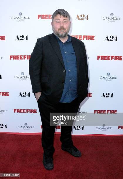 Director/writer Ben Wheatley attends premiere of A24's' 'Free Fire' at ArcLight Hollywood on April 13 2017 in Hollywood California