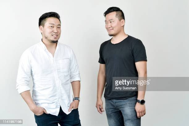 Director/writer Bishrel Mashbat and actor/producer Iveel Mashbat from 'In the Land of Lost Angels' are photographed at the Los Angeles Asian Pacific...