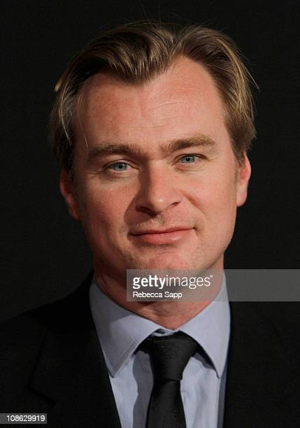 Director/Writer Christopher Nolan arrives on the red carpet before the Modern Master Award Tribute to Christopher Nolan at the Arlington Theater on...