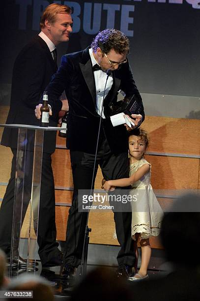 Director/writer Christopher Nolan honoree Matthew McConaughey and Vida Alves McConaughey attend the 28th American Cinematheque Award honoring Matthew...