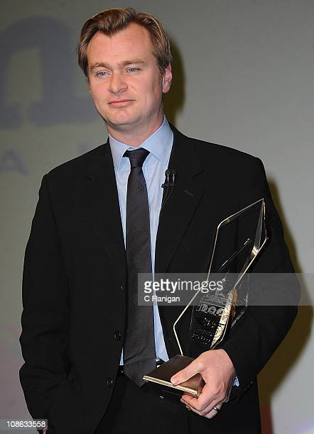 Director/Writer Christopher Nolan on stage at the Modern Master Award Tribute to Christopher Nolan at the Arlington Theater on January 30 2011 in...
