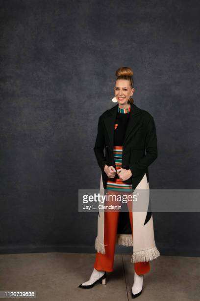 Director/writer Dawn Luebbe from 'Greener Grass' is photographed for Los Angeles Times on January 28 2019 at the 2019 Sundance Film Festival in Salt...