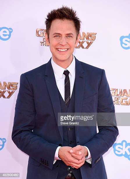 Director/writer James Gunn attends Marvel's 'Guardians Of The Galaxy' Los Angeles Premiere at the Dolby Theatre on July 21 2014 in Hollywood...
