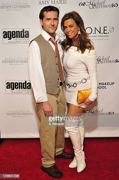 Director/writer James Kerwin and actress Chase Masterson attend the Amy Marie Goetz Runway Show Benefiting Agenda Foundation at Agenda Loft on...