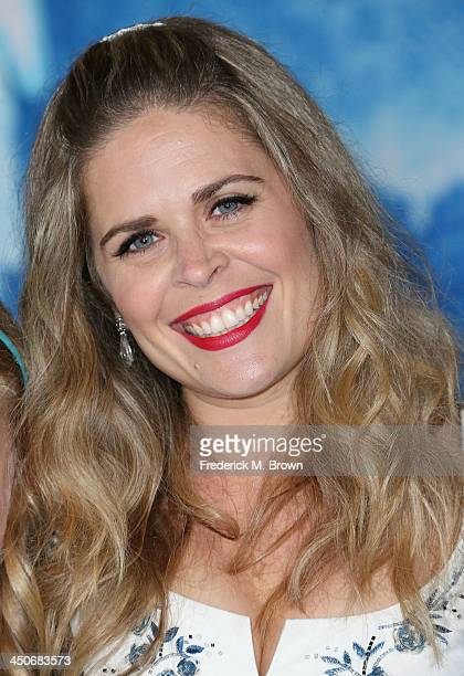 Director/writer Jennifer Lee attends the Premiere of Walt Disney Animation Studios' Frozen at the El Capitan Theatre on November 19 2013 in Hollywood...