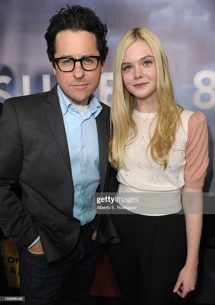 Director/Writer J.J. Abrams and actress Elle Fanning arrive to Paramount Pictures' 'Super 8' Blu-ray and DVD release party at AMPAS Samuel Goldwyn Theater on November 22, 2011 in Beverly Hills, California.