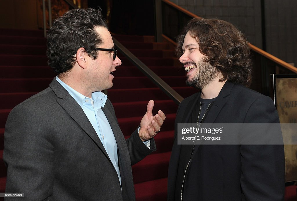 Director/Writer J.J. Abrams and director Edgar Wright attend Paramount Pictures' 'Super 8' Blu-ray and DVD release party at AMPAS Samuel Goldwyn Theater on November 22, 2011 in Beverly Hills, California.