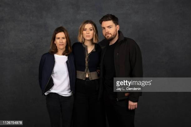 Director/writer Joanna Hogg actors Honor Swinton Byrne and Tom Burke from 'The Souvenir' are photographed for Los Angeles Times on January 28 2019 at...