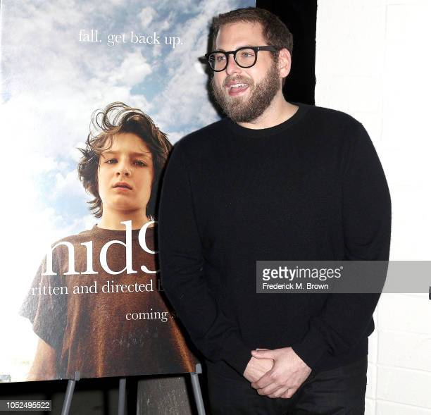 Director/Writer Jonah Hill attends the Premiere of A24's Mid90's at the West Los Angeles Courthouse on October 18 2018 in Los Angeles California
