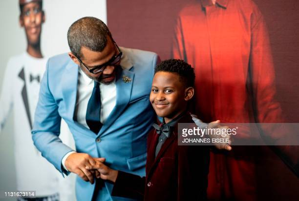 Director/writer Jordan Peele and actor Evan Alex arrive for the New York premiere of 'US' at the Museum of Modern Art on March 19 2019 in New York...