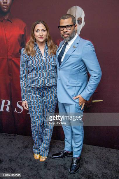 Director/writer Jordan Peele and his wife/actress Chelsea Peretti attends the 'Us' New York Premiere at Museum of Modern Art on March 19 2019 in New...