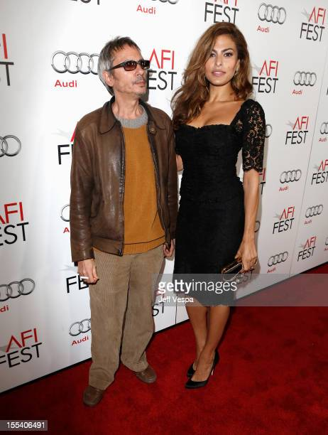 Director/Writer Leos Carax and actress Eva Mendes arrive at the Holy Motors special screening during the 2012 AFI Fest at Grauman's Chinese Theatre...