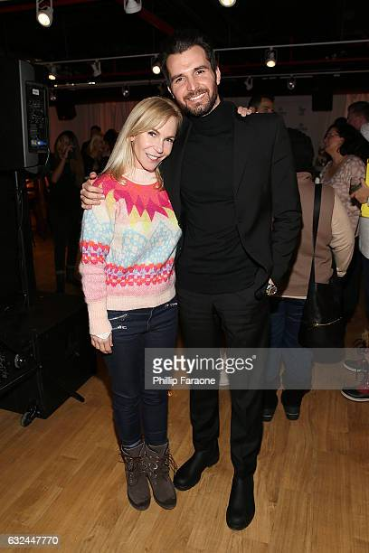 Director/writer Marti Noxon and producer Andrea Iervolino attend the AMBI MEDIA GROUP 2017 Sundance Film Festival Private Cocktail Reception at Acura...