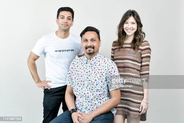 Director/writer Mragendra Singh actor Aseem Tiwari and actress Cynthia Strahan from 'Normal' are photographed at the Los Angeles Asian Pacific Film...