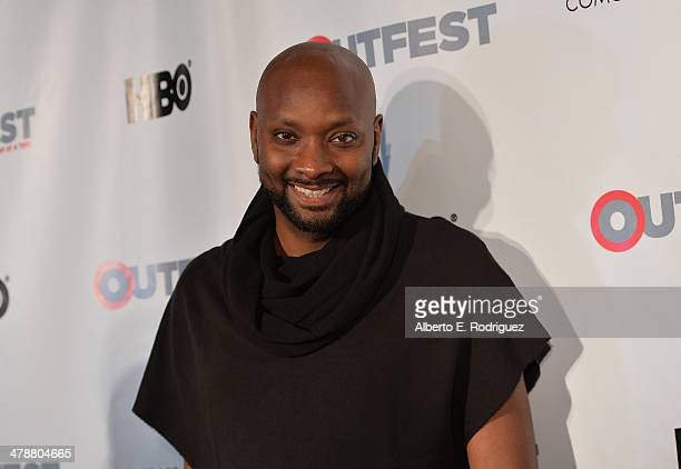 """Director/writer Patrik-Ian Polk arrives to the Outfest Fusion LGBT People of Color Film Fetival Opening Night Screening of """"Blackbird"""" at the..."""