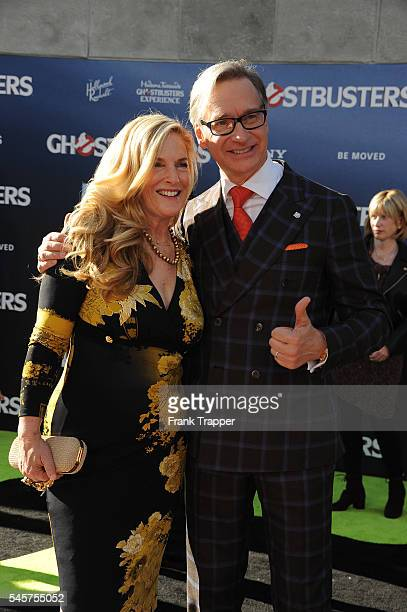 """Director/writer Paul Feig and wife Laurie Feig attend the premiere of Sony Pictures' """"Ghostbusters"""" held at TCL Chinese Theater on July 9, 2016 in..."""