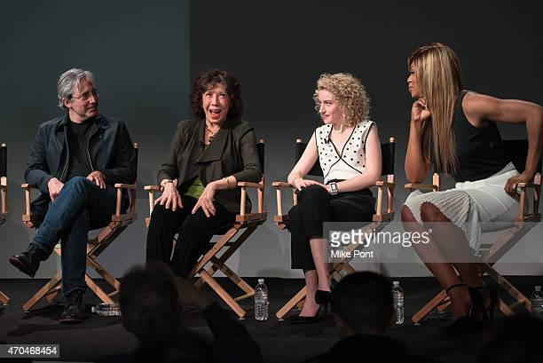 Director/Writer Paul Weitz and Actors Julia Garner Lily Tomlin and Laverne Cox attend Apple Store Soho Presents Tribeca Film Festival Paul Weitz Lily...