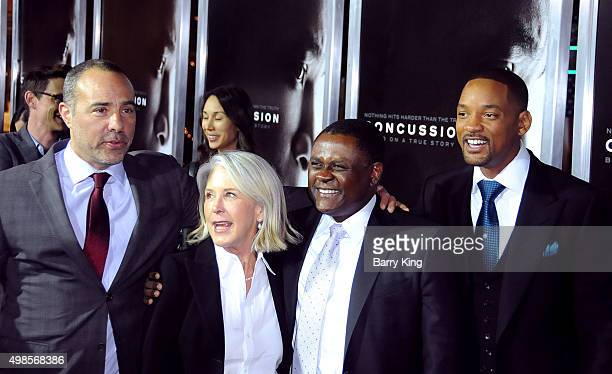 Director/writer Peter Landesman producer Elizabeth Cantillon Dr Bennet Omalu and actor Will Smith attend Screening of Columbia Pictures' 'Concussion'...
