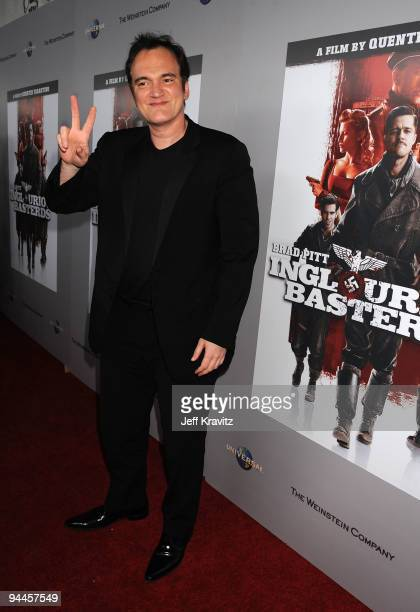 Director/writer Quentin Tarantino arrives at Inglourious Basterds BluRay and DVD Launch at New Beverly Cinema on December 14 2009 in Los Angeles...