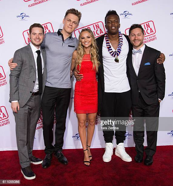 Director/writer Sam Milman YouTube personality/actor Caspar Lee actress Madison Iseman YouTube personality/actor KSI and director/writer Peter Vass...