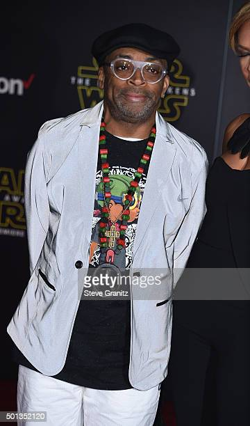 Director/writer Spike Lee arrives at the premiere of Walt Disney Pictures' and Lucasfilm's Star Wars The Force Awakens at the Dolby Theatre TCL...
