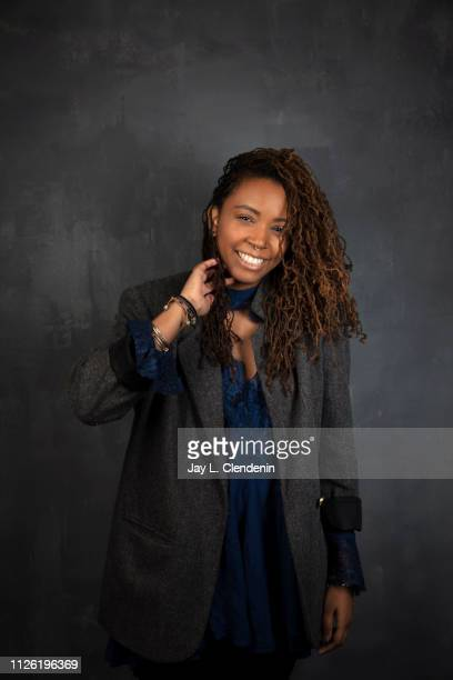 Director/writer Tayarisha Poe from 'Selah and The Spades' is photographed for Los Angeles Times on January 27 2019 at the 2019 Sundance Film Festival...