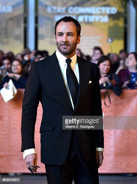 Director/Writer Tom Ford attends the Nocturnal Animals premiere during the 2016 Toronto International Film Festival at Princess of Wales Theatre on...