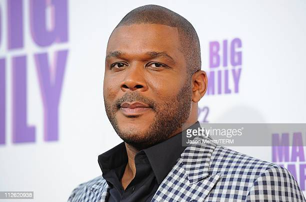 "Director/Writer Tyler Perry arrives at the Lionsgate premiere of ""Madea's Big Happy Family"" at ArcLight Cinemas Cinerama Dome on April 19, 2011 in..."