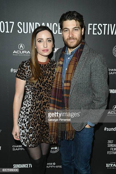 Director/writer Zoe ListerJones and Adam Pally attend the Band Aid Premiere at Eccles Center Theatre on January 24 2017 in Park City Utah