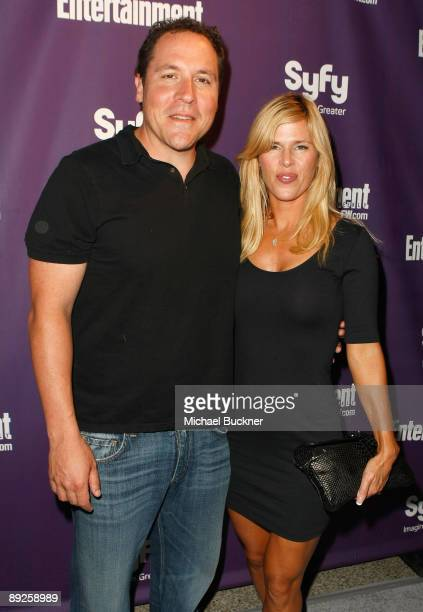 Director/writer/actor Jon Favreau and Joya Tillem attend Entertainment Weekly's Syfy Party during ComicCon 2009 held at Hotel Solamar on July 25 2009...