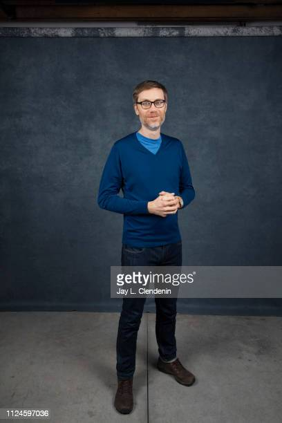 Director/writer/actor Stephen Merchant from 'Fighting with My Family' is photographed for Los Angeles Times on January 27 2019 at the 2019 Sundance...