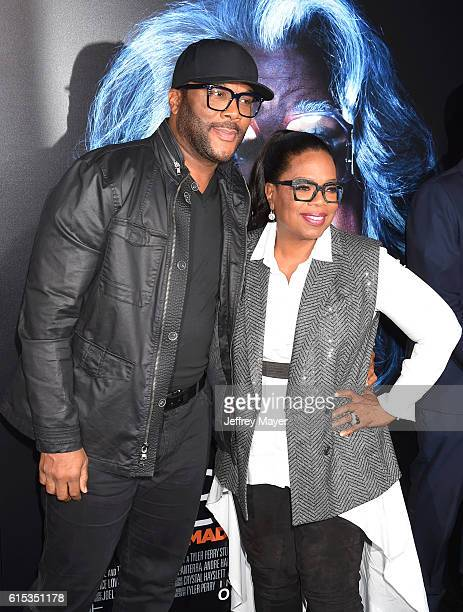 Director/writer/actor Tyler Perry and producer/actress Oprah Winfrey attend the premiere of Lionsgate's 'Boo A Madea Halloween' at the ArcLight...