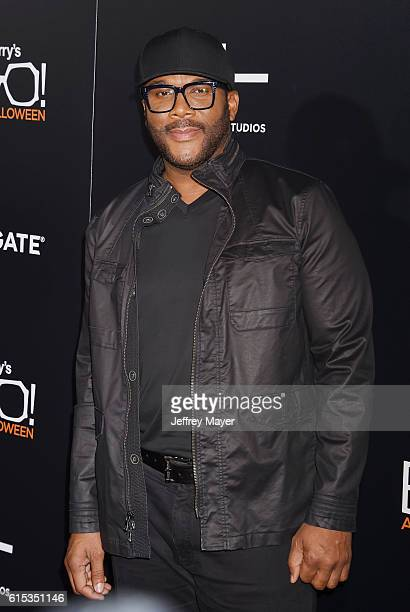 Director/writer/actor Tyler Perry attends the premiere of Lionsgate's 'Boo A Madea Halloween' at the ArcLight Cinerama Dome on October 17 2016 in...