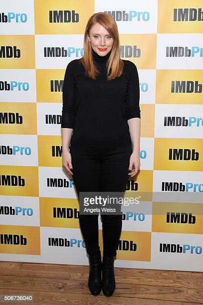 Director/writer/actress Bryce Dallas Howard in The IMDb Studio In Park City Utah Day Four on January 25 2016 in Park City Utah