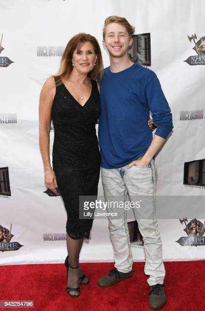 Director/writer/actress Judy Norton and actor Joey Luthman attend the premiere of Inclusion Criteria at Charlie Chaplin Theatre on April 7 2018 in...