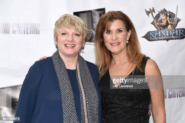 Director/writer/actress Judy Norton and actress Alison Arngrim attend the premiere of Inclusion Criteria at Charlie Chaplin Theatre on April 7 2018...