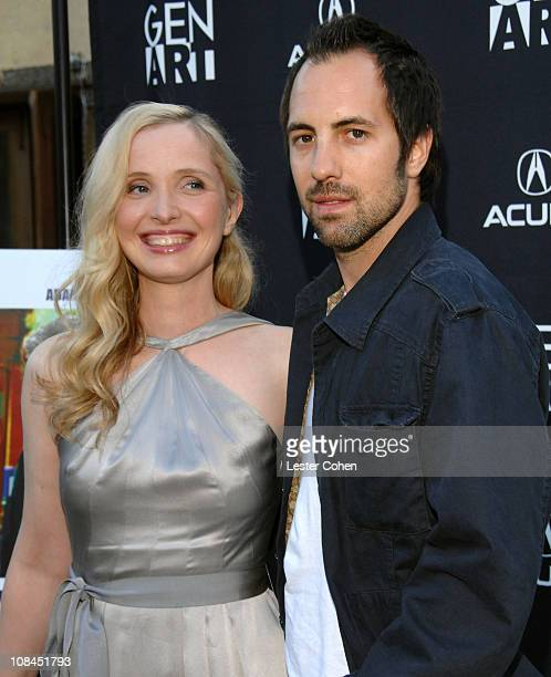 Director/writer/actress Julie Delpy and guest arrives to the 2 Days in Paris Los Angeles premiere at the Egyptian Theater on August 6 2007 in...