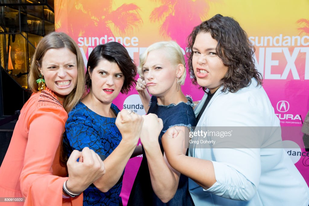 Director/Writer/Actress Marianna Palka and Actresses Rebekka Johnson, Kimmy Gatewood and Britney Young arrive for the 2017 Sundance NEXT FEST at The Theater at The Ace Hotel on August 12, 2017 in Los Angeles, California.