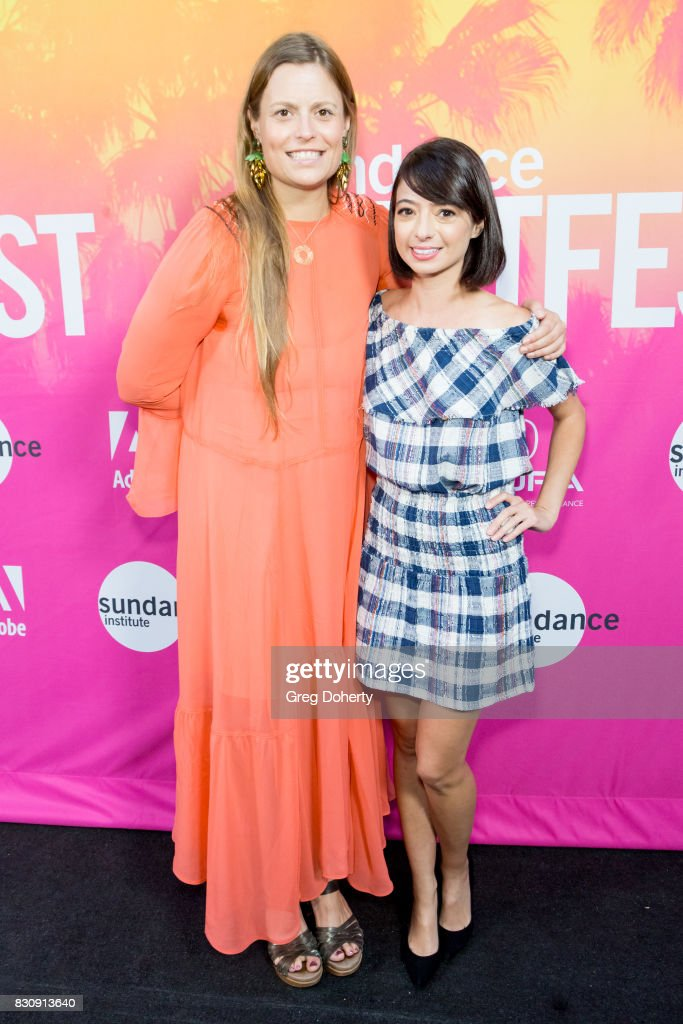 Director/Writer/Actress Marianna Palka and Comedian/Actress Kate Micucci arrive for the 2017 Sundance NEXT FEST at The Theater at The Ace Hotel on August 12, 2017 in Los Angeles, California.
