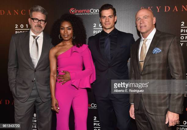 Director/writer/producer Christopher McQuarrie actors Angela Bassett Henry Cavill and President Domestic Theatrical Distribution Kyle Davies attend...