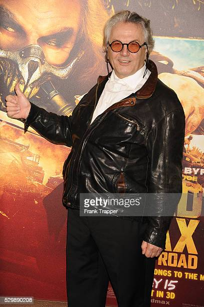 """Director/writer/producer George Miller arrives at the premiere of """"Mad Max: Fury Road"""" held at the TCL Chinese Theater in Hollywood."""