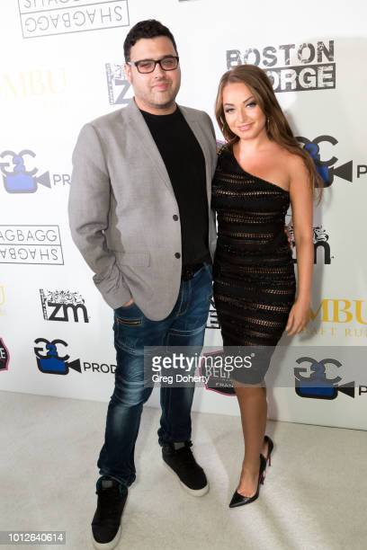 Director/Writer/Producer Gregori J Martin and Actress Victorya Brandart attend George Jung's Birthday Celebration And Screening Of Blow at TCL...