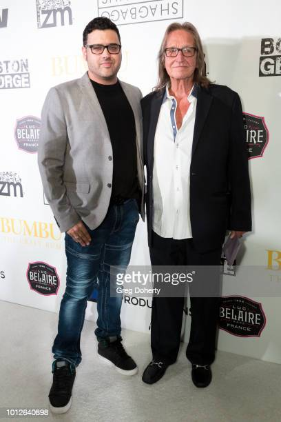 Director/Writer/Producer Gregori J Martin and George Jung attend George Jung's Birthday Celebration And Screening Of Blow at TCL Chinese 6 Theatres...