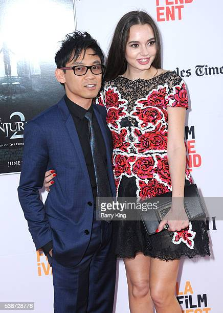 Director/writer/producer James Wan and actress Ingrid Bisu attend 2016 Los Angeles Film Festival 'The Conjuring 2' premiere at TCL Chinese Theatre...
