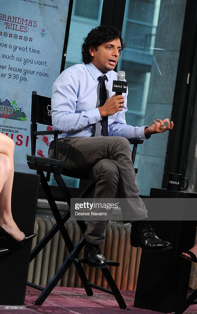 Director/writer/producer M. Night Shyamalan attends AOL BUILD Speaker Series: 'The Visit' at AOL Studios In New York on September 8, 2015 in New York City.